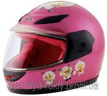 Мотошлем BLD-801 детский (розовый, барашки)