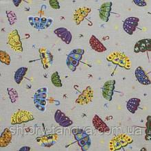 Ткань для штор зонтики