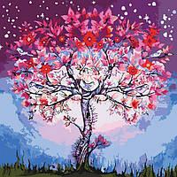 """Картины раскраски по номерам """"Волшебное дерево"""" набор для творчества"""