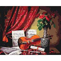 """Картины раскраски по номерам """"Скрипичное соло"""" набор для творчества"""