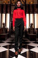 Женская красная рубашка Перфис ТМ Jadone  42-48 размеры