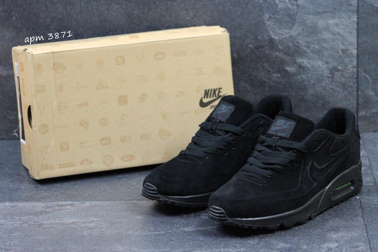 Мужские кроссовки Nike Air Max 87 замшевые, черные