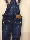 Детский джинсовый комбинезон для девочки 98 см, фото 5