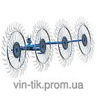 Грабли-ворошилки ПроТекна круглой трубе  (Украина, 4 секции)