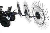 Грабли-ворошилки для мототракторов (на 3солнышка, захват 1,8м) Премиум