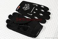 Мотоперчатки черные