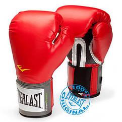 Перчатки тренировочные Everlast PU Pro Style training gloves 12 oz красный