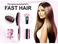 """Расческа-выпрямитель """"Fast hair straightener"""" с дисплеем, фото 1"""