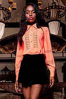 Женская розовая рубашка Перфис ТМ Jadone  42-48 размеры