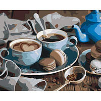"""Картины раскраски по номерам """"Сладкое утро"""" набор для творчества"""
