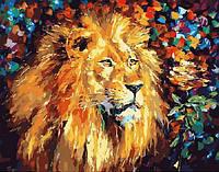 """Картины раскраски по номерам """"Великолепный лев"""" набор для творчества"""