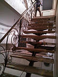 Кованые перила в классическом стиле с элементами растительности, фото 2
