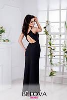 Вечернее женское платье с треугольным вырезом на спине