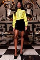 Женская желтая рубашка Перфис ТМ Jadone  42-48 размеры