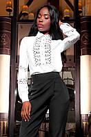 Женская белая рубашка Перфис ТМ Jadone  42-48 размеры