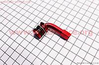 Ниппель дисковый многоразовый кривой красный
