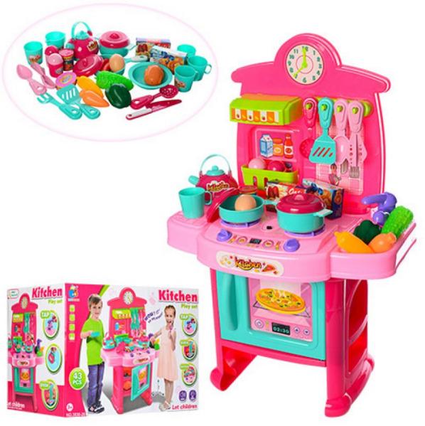 Кухня,звук, свет, посуда, 43 деталей на батарейках.Игровой набор для девочек.Детская кухня.