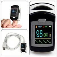 Пульсоксиметр CMS50E цветной OLED дисплей, передача данных на ПК, фото 1