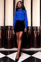 Женская рубашка Перфис электрик ТМ Jadone  42-48 размеры