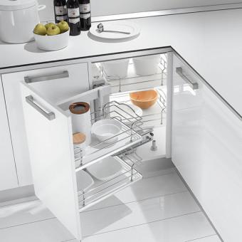 Механізм висувний для кухні DYNAMIC CORNER (4 кошики). INOXA