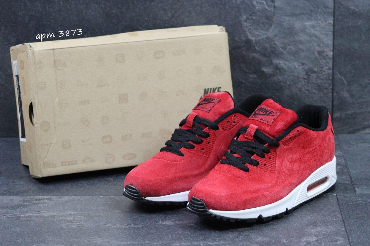 Мужские кроссовки Nike Air Max 87 замшевые,бордовые