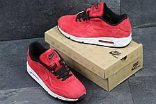 Мужские кроссовки Nike Air Max 87 замшевые,бордовые, фото 3