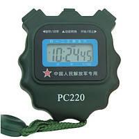 Секундомер PC220 однострочный, пластик, 3-ех кнопочный, ХАКИ., фото 1