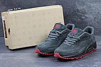 Мужские кроссовки Nike Air Max 87 замшевые,серые