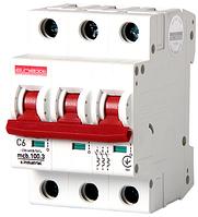 Модульный автоматический выключатель C6, 3 р, 6А, C, 10кА