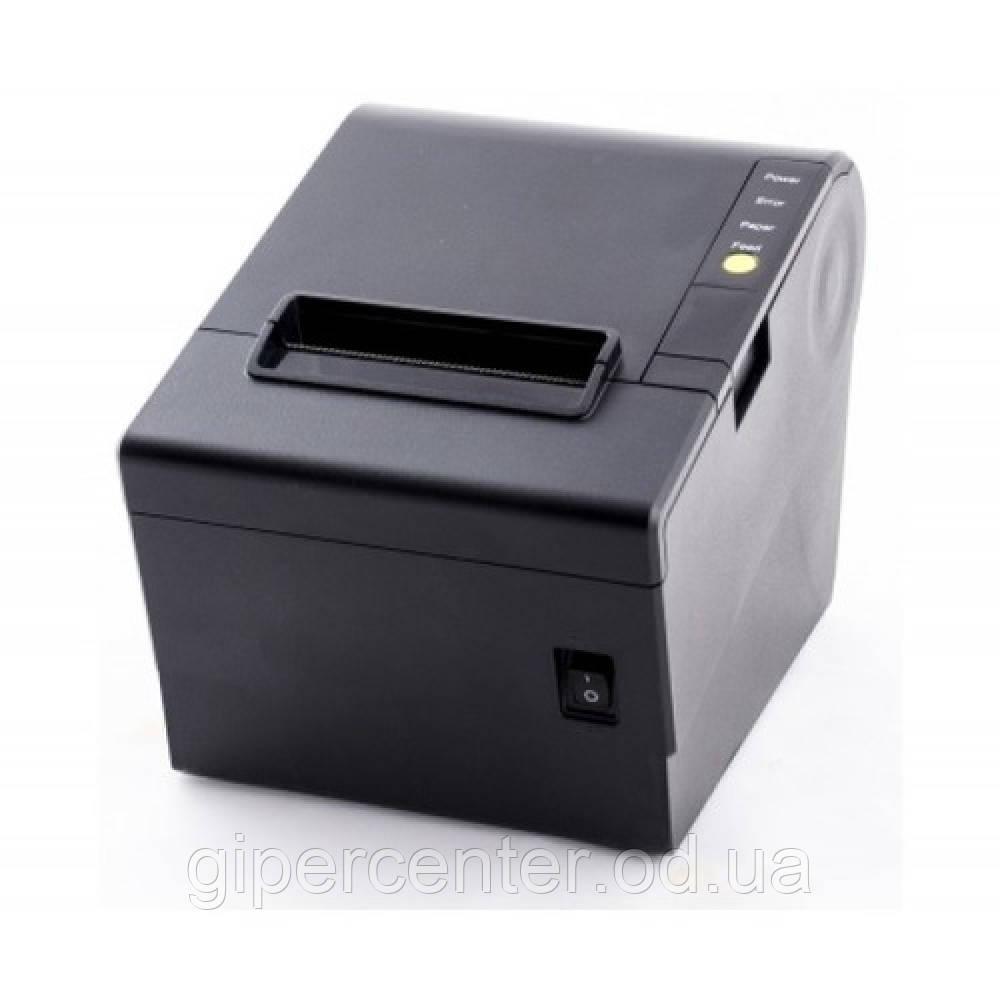Принтер чеків HPRT TP806 Ethernet+USB чорний (краща швидкість, вбудований автообрізчик)