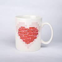 """Кружка чашка хамелеон  """"I love you"""""""