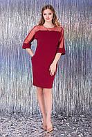 """Платье """"Рикарда"""" (бордовый), фото 1"""