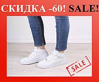Кроссовки Nike Air Force High White (БЕЛЫЕ) СКИДКА -60%, фото 1