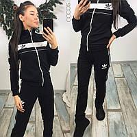 Женские костюмы adidas ткань турецкая двунитка‼цвет чёрный, белый, электрик, марсала! ,супер качество нн1 №398