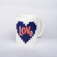 "Кружка чашка хамелеон ""Love"""