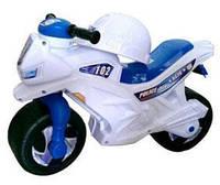 Мотоцикл 2-х колесный БЕЛЫЙ (каска, значек)