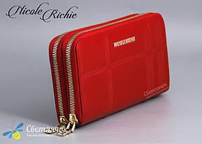 Кошелек женский кожаный красный/черный Nicole Richie , фото 2