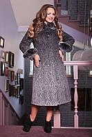 Красивое зимнее женское теплое пальто большого размера 52, 54, 60 размер.Зимове жіноче пальто