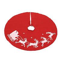 Рождественское украшение для елки юбка-коврик красный