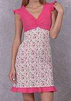 Ночная сорочка домашняя женская (ночнушка) трикотажная пижама мягкая хлопковая