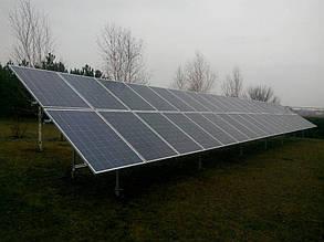 второй смонтированный стол из солнечных панелей  Amerisolar AS-6P30 260 W