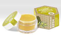 Крем натуральный восковой «Успокаивающий» с воском листьев оливы и маслом авокадо. Для рук и тела