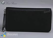 Кошелек клатч женский кожаный черный на молнии Loro Piana , фото 3
