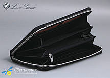 Кошелек клатч женский кожаный черный на молнии Loro Piana , фото 2