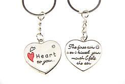 """Парный брелок для влюбленных """"Два сердца"""""""