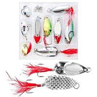 Блесна микс 9шт WSI51214. Рыболовный аксессуар. Отличное качество. Доступная цена. Дешево. Код: КГ2726