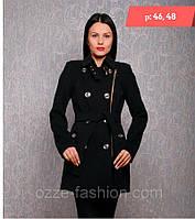 Весеннее женское пальто черное со скидкой