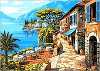 """Картины раскраски по номерам """"Кафе у моря"""" набор для творчества"""