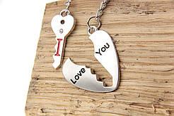 """Парный брелок для влюбленных """"Ключик к сердцу"""""""