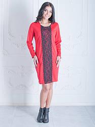 Свободное платье с кружевом Сабина